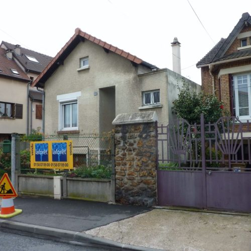 Photo avant vue rue de la maison existante à rénover