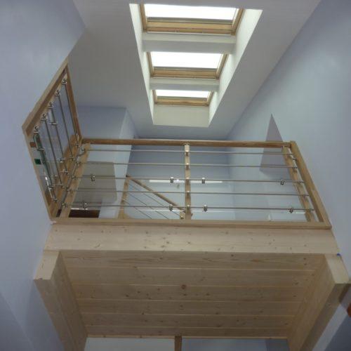 Photo couleur intérieur du projet d'extension et isolation d'une maison individuelle