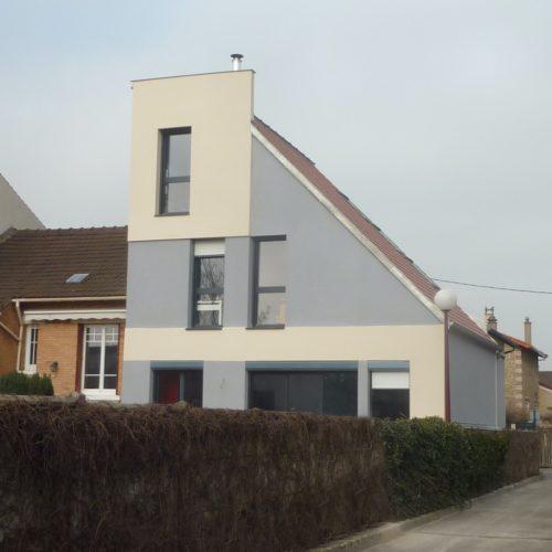 Photo vue de la rue extérieur de l'extension construite en ile de France