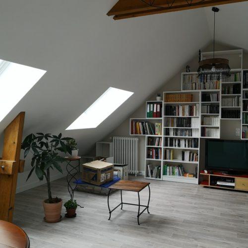 Photo d'un bel espace bibliothèque réalisé par TB'Home