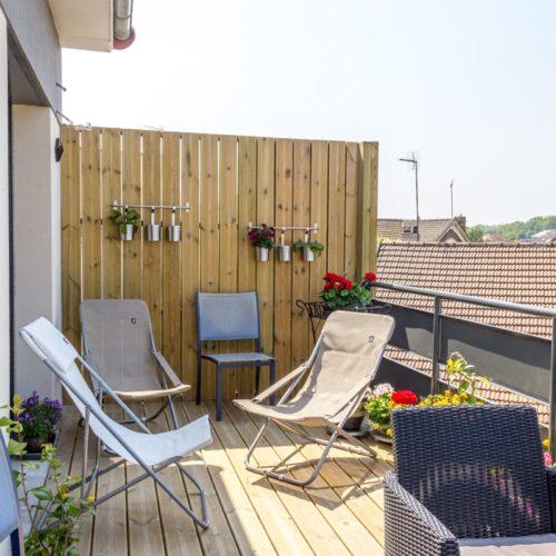 Photo après aménagement d'une terrasse extérieur en Ile de France
